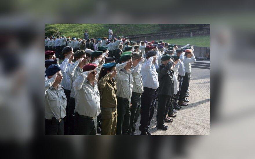 Laisvės gynėjų atminimą pagerbė Lietuvos ir Izraelio kariai