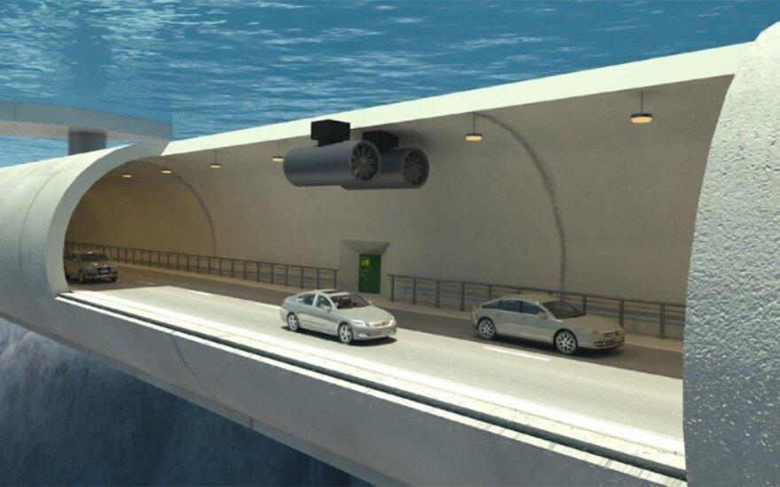 Norvegija žada tiesti pirmą tokį tunelį pasaulyje