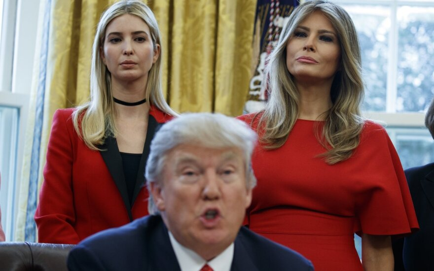 Melania Trump, Ivanka Trump, Donaldas Trumpas
