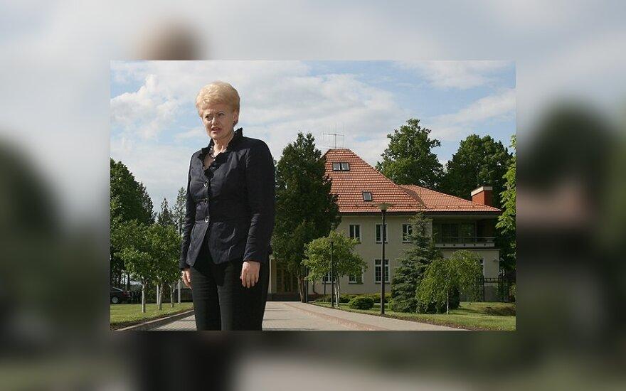 D.Grybauskaitė po darbų jau grįžta į Turniškes