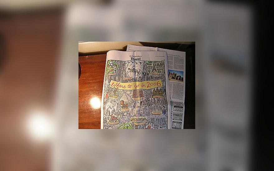 """Dienraščio """"The New York Times"""" kelionių puslapio viršelis"""