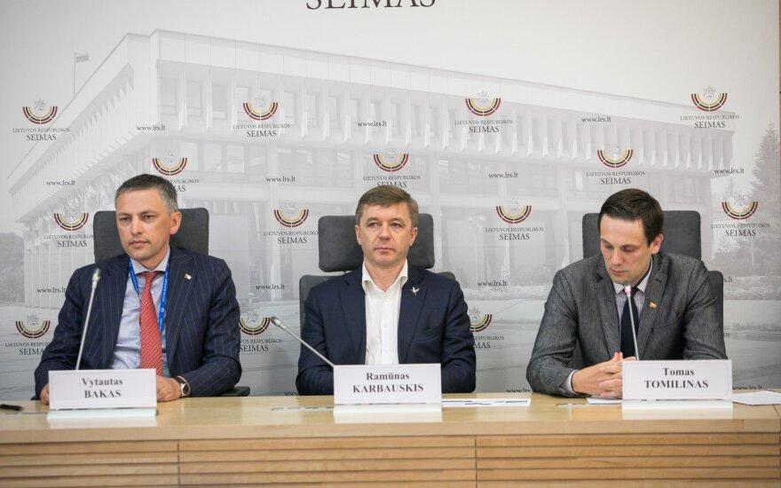 Vytautas Bakas, Ramūnas Karbauskis ir Tomas Tomilinas