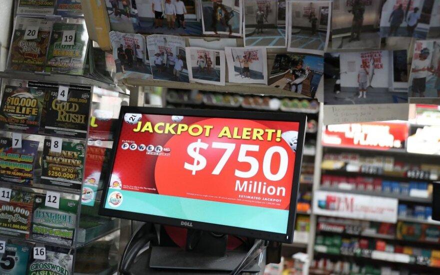 """Laimingasis """"Powerball"""" loterijoje išlošė 768 mln. dolerių"""