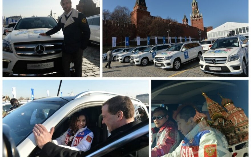"""Rusijos olimpiečiams – ne tik įspūdingos premijos, bet ir prabangūs """"Mercedes"""" (DELFI fotomontažas)"""