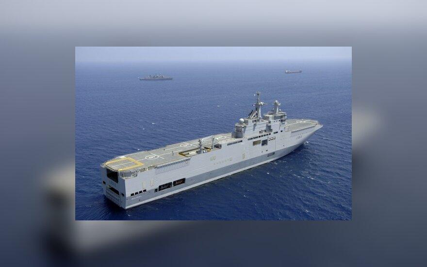 Prancūzija pastatys Rusijai du karo laivus