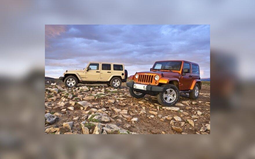 Jeep Wrangler Sahara ir Wrangler Unlimited Sahara