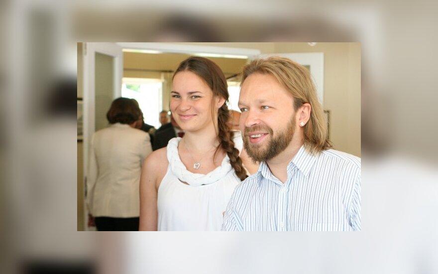 Martynas Starkus su žmona Kotryna