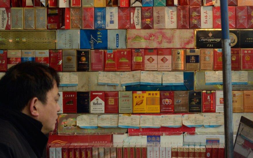 Tabako gaminių pasiūla Kinijoje
