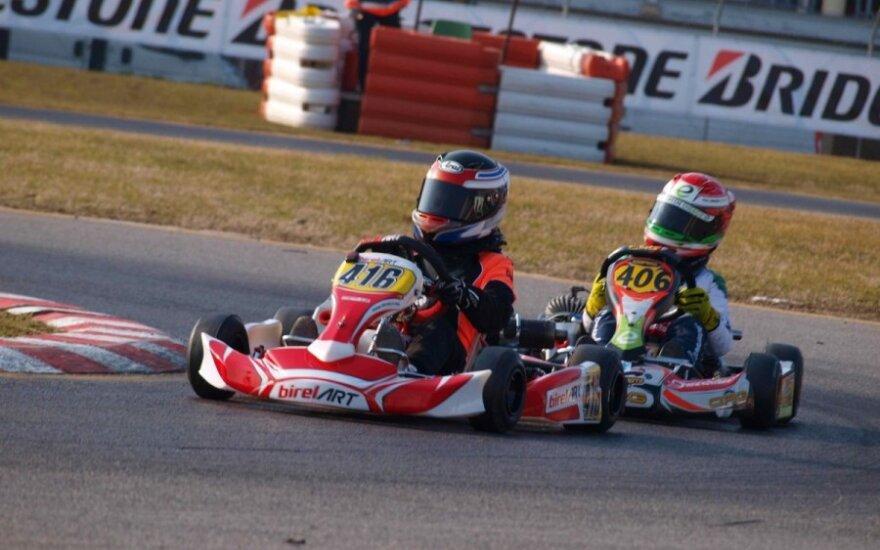 Kartingo lenktynės Italijoje