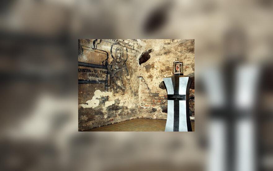 Restauruota 17 amžiaus Šv. Kazimiero bažnyčios kripta