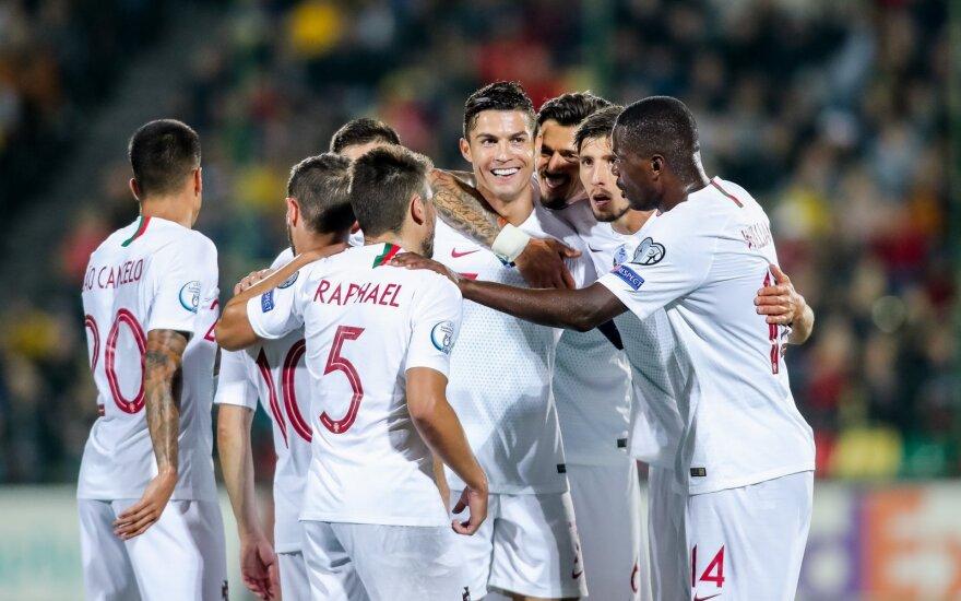 Lietuvių įvartis pabudino žvėrį: rekordus mušęs Ronaldo surengė įspūdingą šou