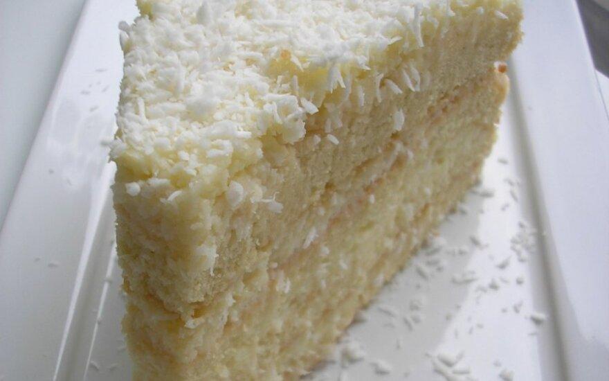 """TIRPSTA BURNOJE: tortas kaip """"Raffaello"""""""