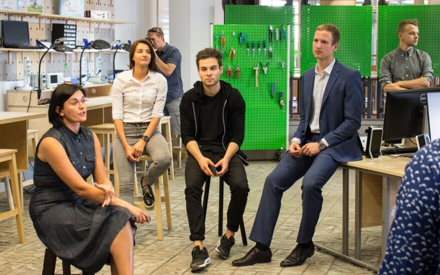 During th opening of Green Garage, professional maker space in Vilnius