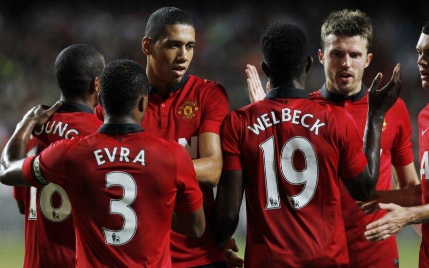 """""""Manchester United"""" futbolininkai džiaugiasi"""