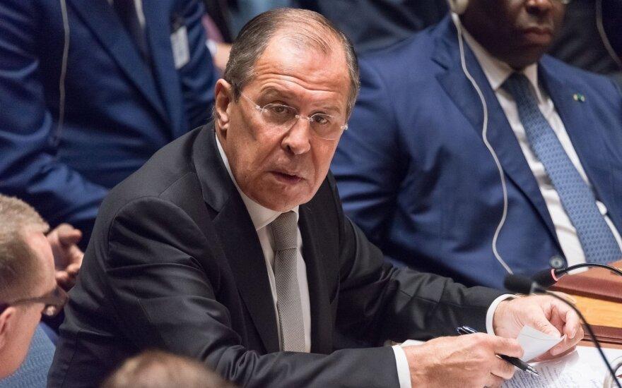 S. Lavrovas: JAV ataka Sirijoje primena Vakarų surengtą Irako puolimą