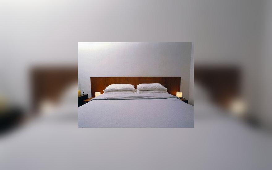 Miegamasis, lova, interjeras