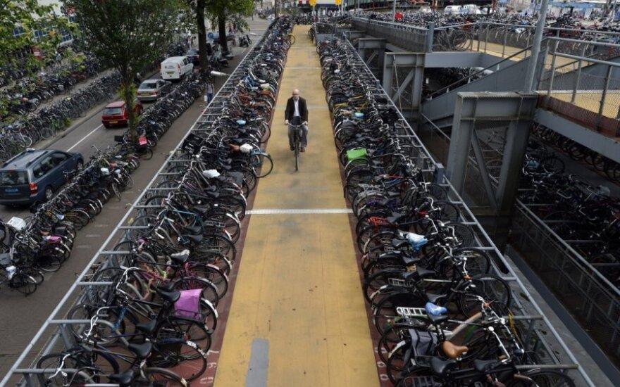 Kokia dviračių Olandijoje populiarumo paslaptis?