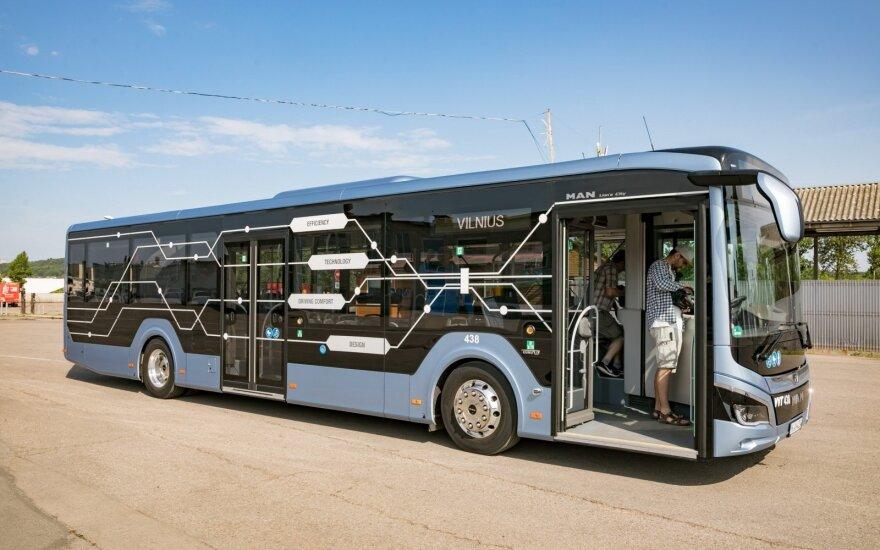 Vilniuje testuojamas MAN Lion's City hibridinis autobusas