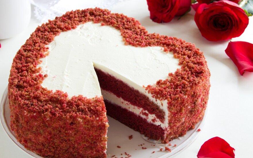 """Tortas """"Raudonas aksomas"""""""