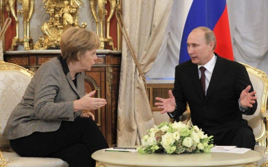 Angela Merkelir ir Vladimiras Putinas