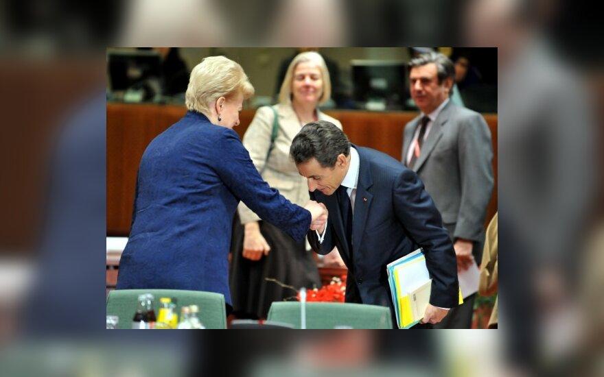 Dalia Grybauskaitė ir Nicolas Sarkozy