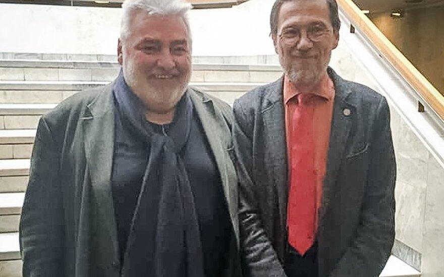 Alfredas Bumblauskas ir Liudas Mažylis / Nuotrauka iš N. Vaisbrodės feisbuko
