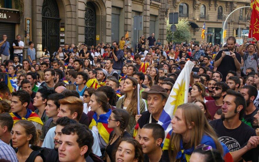 Barselonoje į gatves išėjo daugiau kaip pusė milijono žmonių