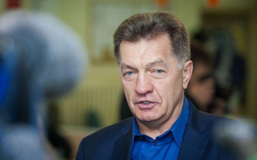 Algirdas Butkevičius after voting