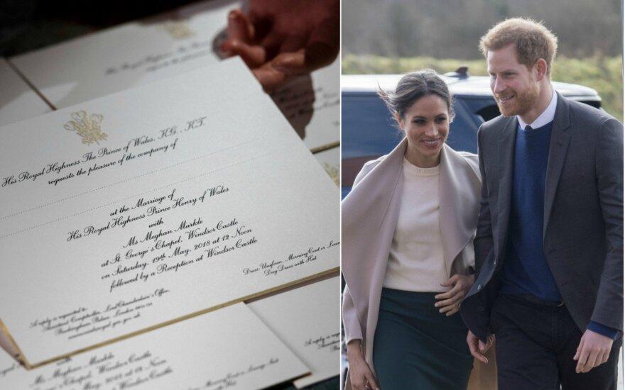 Kvietimai į princo Harry ir Meghan Markle vestuves