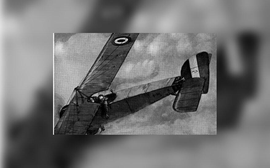 Praėjus dienai po O. Boelckės žūties britai virš vokiečių karo aerodromo numetė vainiką