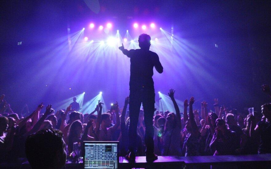 """""""Simple Plan"""" koncerto Vilniuje akimirkos (J.Masilionio nuotr.)"""
