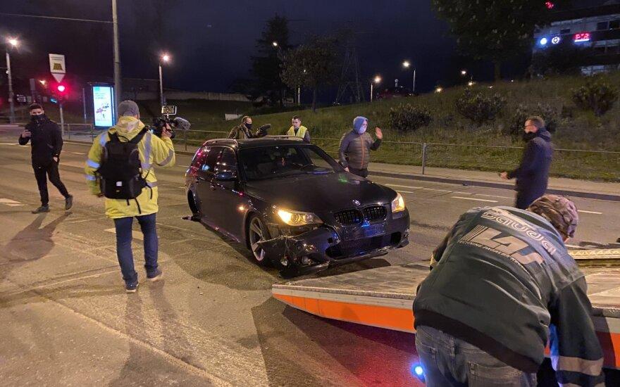 Dviejų BMW susidūrimas Vilniuje: kaltininkas girtas