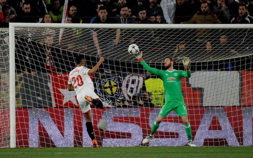 """UEFA Čempionų lyga: """"Manchester United"""" išgelbėjo vartininkas, o """"Šachtar"""" pergalę išplėšė legionieriai"""