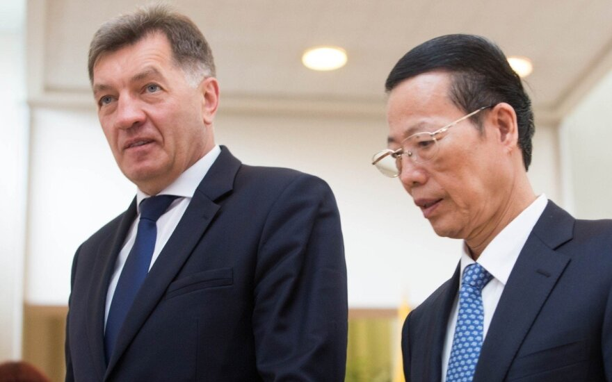 Algirdas Butkevičius and Zhang Gaoli