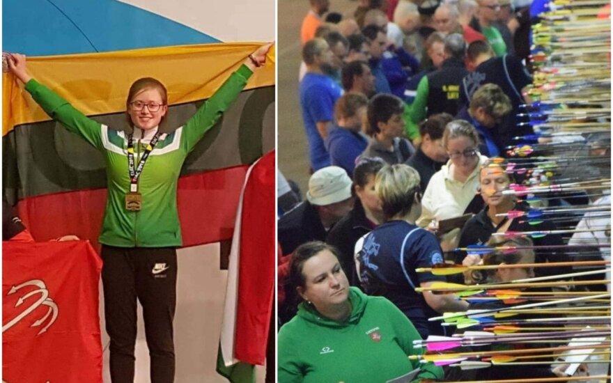 Lietuvos rekordą pagerinusiai lankininkei Večkytei – Europos čempionato auksas