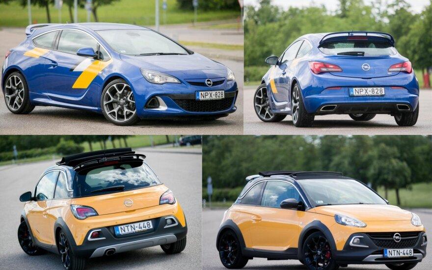"""""""Opel Astra GTC OPC"""" ir """"Opel Adam Rocks S"""""""