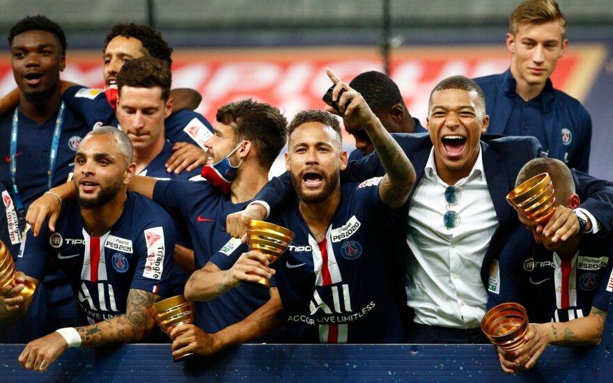 PSG futbolininkų triumfas