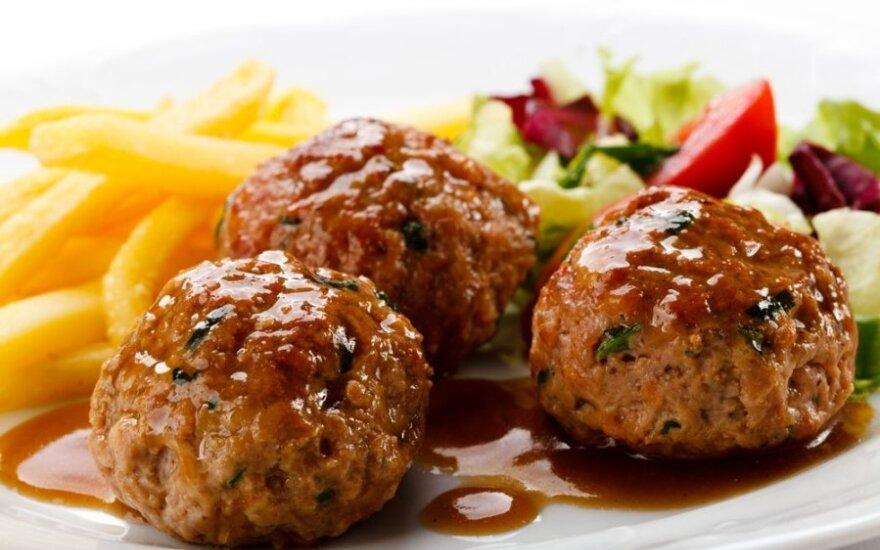 Mėsos kukuliai su špinatais ir parmezanu