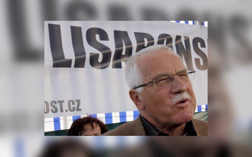 Čekijos prezidentas V.Klausas: euras yra pavojinga idėja,galinti sukelti rimtų problemų