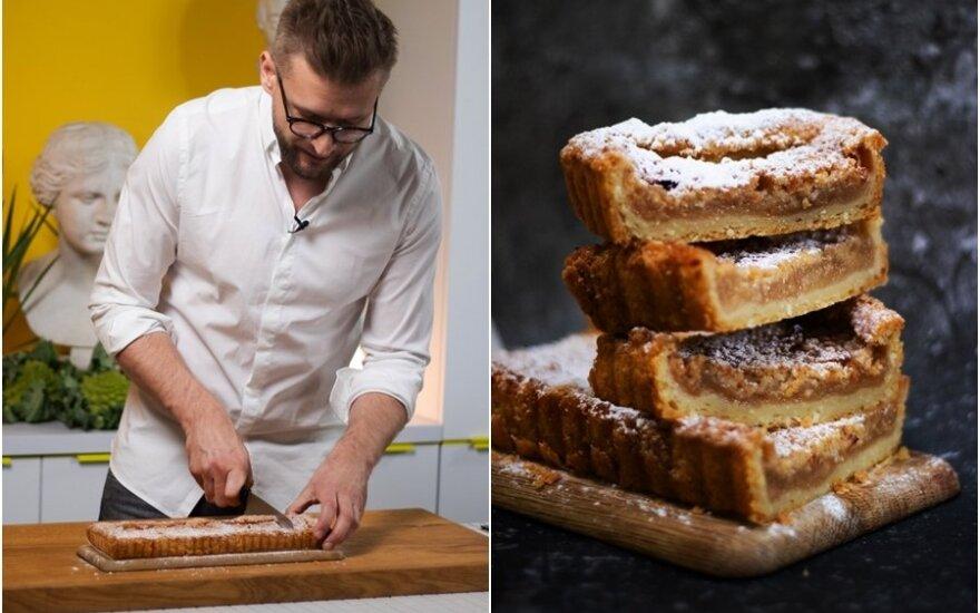 Obuolių pyragas pagal Alfą Ivanauską