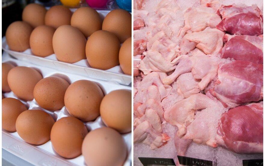 Kiaušiniai ir paukštiena