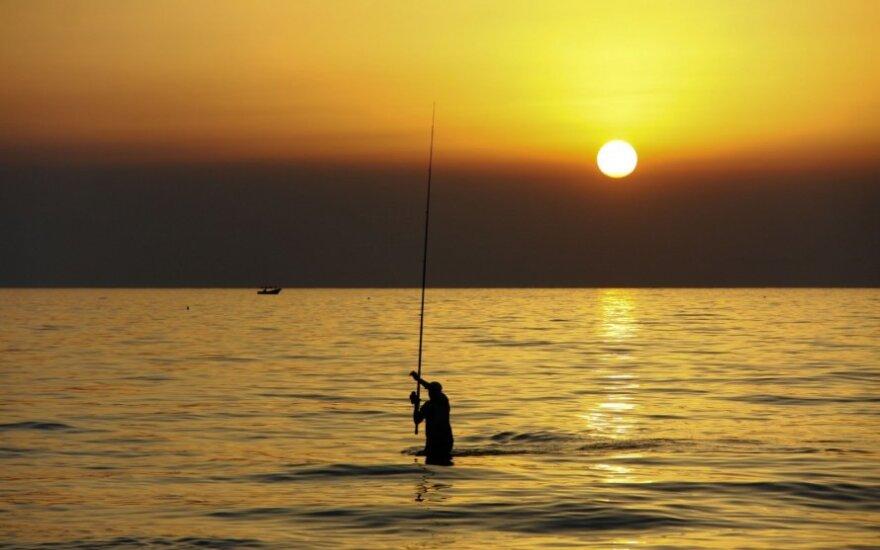 Žvejas viduržemio jūroje prie Gazos ruožo