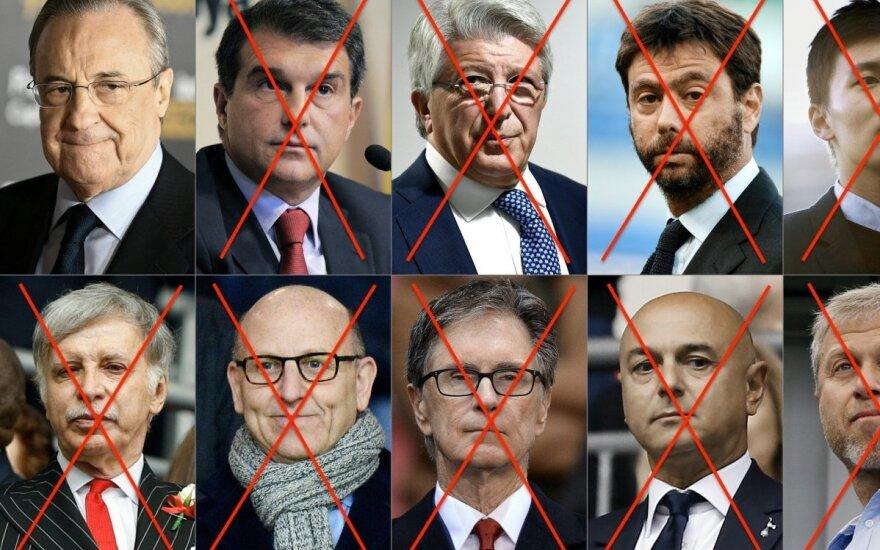 Iš Europos Superlygos steigėjų dar viešai neapsigalvojo tik Florentino Perezas
