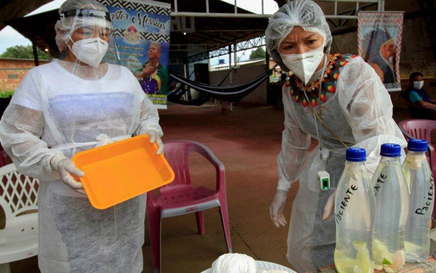 Brazilijoje aptikta nauja koronaviruso atmaina