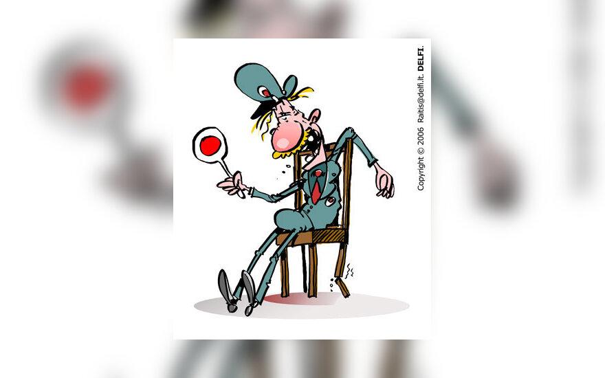 Policininkas, policija - karikatūra