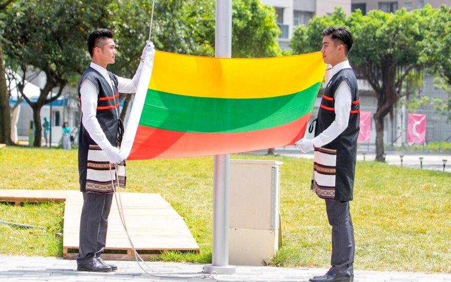 Lietuvos vėliava iškelta Taipėjuje (LSSA nuotr.)
