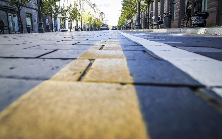 Sostinės gatvėse daugėja geltonojo ženklinimo