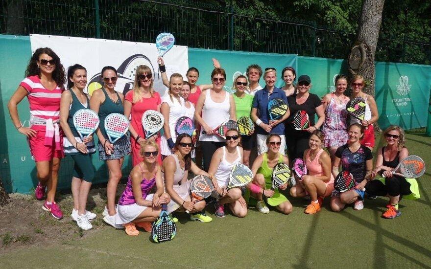 Padelio teniso turnyro dalyvės
