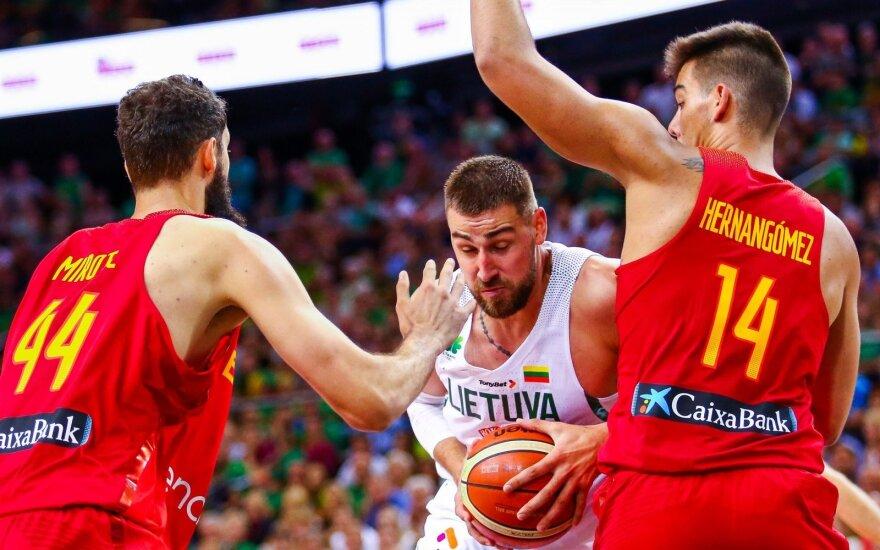 Lietuvos rinktinės fiesta Malagoje: panaikino 16 taškų deficitą ir patiesė Ispaniją