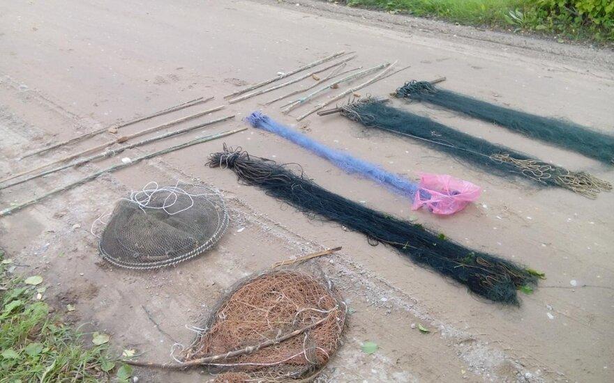 Ūkiniame pastate rasti draudžiami žvejybos įrankiai